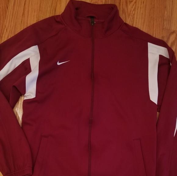 Nike Team Dri Fit Track Jacket (Maroon)